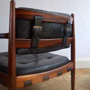 paire de fauteuils bois de rose années 70 vintage 11