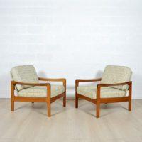 Paire de fauteuils scandinave années 60