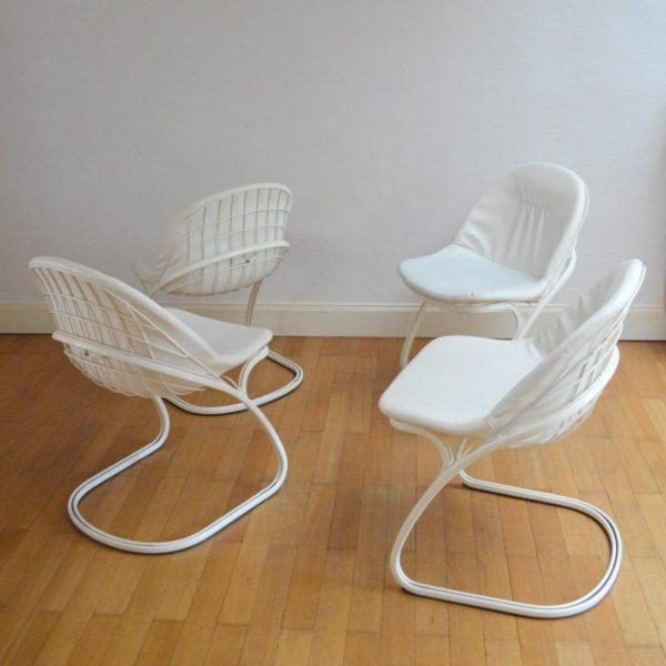 Suite de 4 chaises Sabrina par Gastone Rinaldi Italy 1970