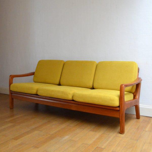 Superbe Canapé / Daybed Danish par Juul Kristensen années 60 / 70