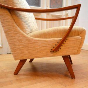 Paire de fauteuils années 50 : 60 vintage 25