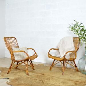 paire de fauteuils rotin vintage 7