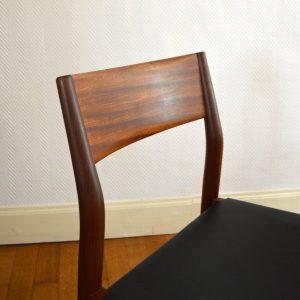 chaises scandinave teck et cuir vintage 25