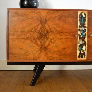 Enfilade années 60 ronce de noyer – céramique vintage 28