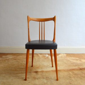 Quatre chaises Stevens Pays Bas 1950 vintage 13