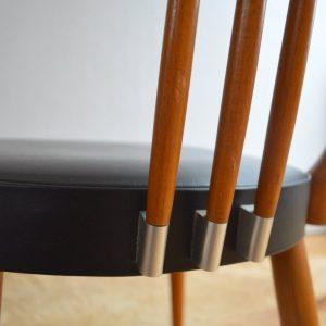 Quatre chaises Stevens Pays Bas 1950 vintage 31