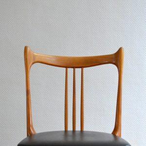 Quatre chaises Stevens Pays Bas 1950 vintage 36