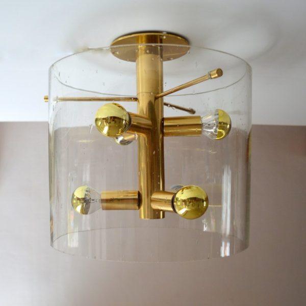 Superbe Lampe / Plafonnier sputnik Design par Doria 1960s
