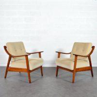 Paire de fauteuils Knoll Antimott 1950s
