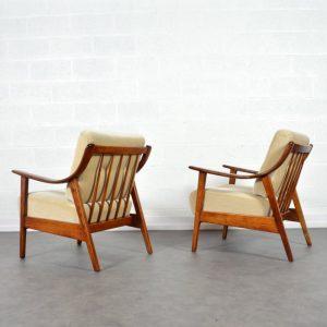 Paire de fauteuils années 60 Knoll vintage 6