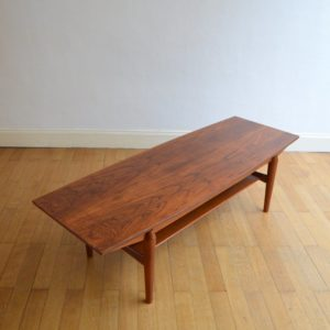 Table basse scandinave palissandre vintage 12