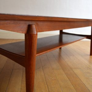 Table basse scandinave palissandre vintage 20