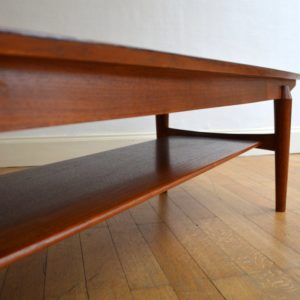 Table basse scandinave palissandre vintage 23