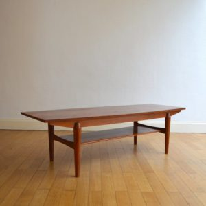 Table basse scandinave palissandre vintage 4