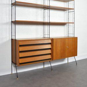 Bibliothèque modulable sur pieds 1960 vintage 5