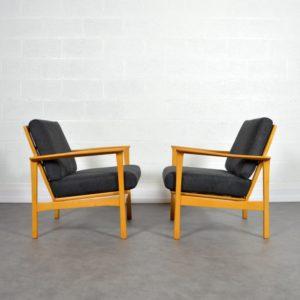 Paire de fauteuils scandinave 1960 vintage 11