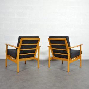 Paire de fauteuils scandinave 1960 vintage 17