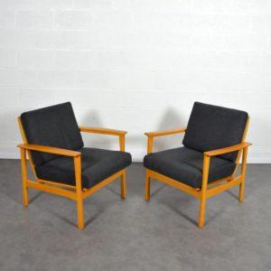 Paire de fauteuils scandinave 1960 vintage 3