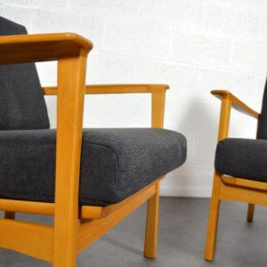 Paire de fauteuils scandinave 1960 vintage 8