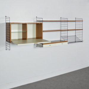 étagères modulable : bibliothèque String 1960 vintage 1