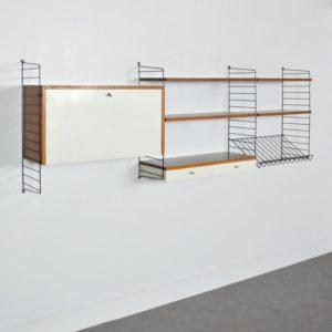 étagères modulable : bibliothèque String 1960 vintage 3