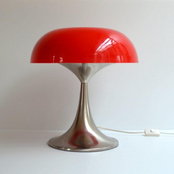 Lampe de table champignon design 1970s