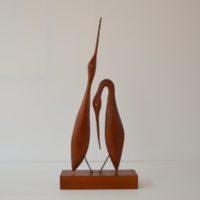 Hérons sculptés scandinave teck 1960s