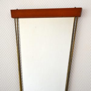 Miroir scandinave teck 1960 vintage 16