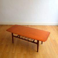 Table basse de salon design Danois années 60 teck