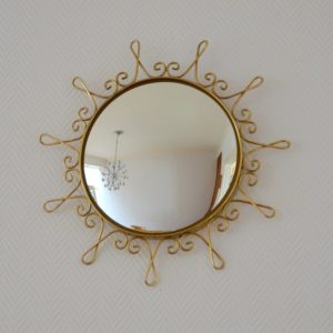 Miroir soleil : Bombé vintage 1