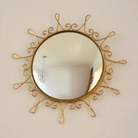 Miroir soleil : Bombé vintage 14