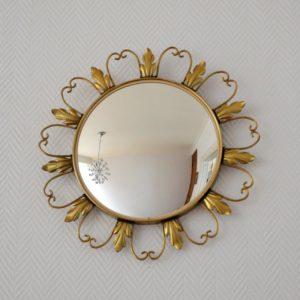 Miroir soleil oeil de sorcière 1950 vintage 5