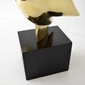 sculpture Philippe Jean en bronze doré 1978 vintage 29