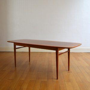 Table basse scandinave 1960 vintage 11