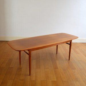 Table basse scandinave 1960 vintage 25