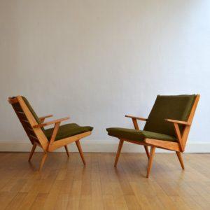 Paire de fauteuils Rob Parry 1960s vintage 5