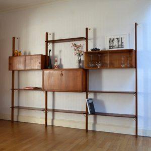 Wall unit : Bibliothèque scandinave Fristho vintage 7