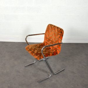 Chaise Tavo vintage orange 4