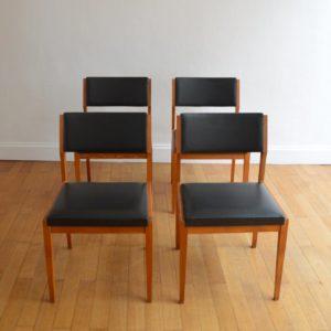 4 chaises scandinave vintage 3
