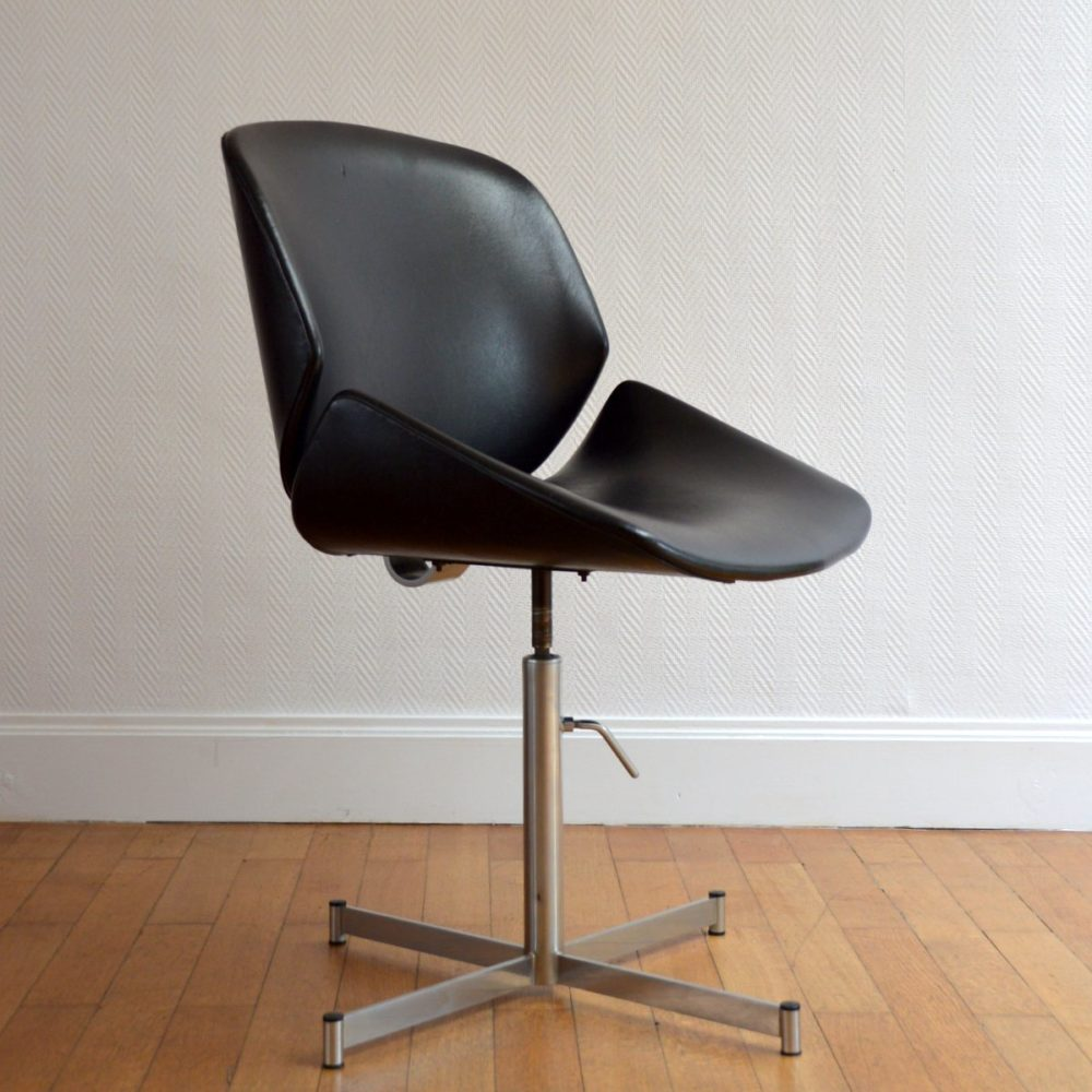 Fauteuil / Chaise de bureau pivotante Design 1960s