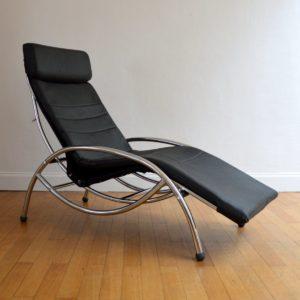 Chaise longue : à bascule 1970 vintage 11