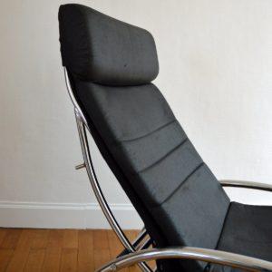 Chaise longue : à bascule 1970 vintage 16