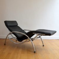 Chaise longue : à bascule 1970 vintage 2