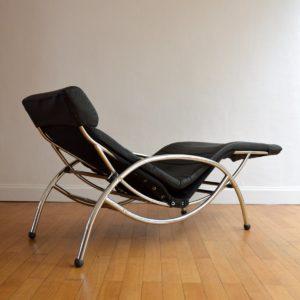 Chaise longue : à bascule 1970 vintage 28