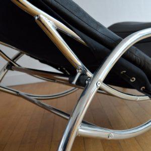 Chaise longue : à bascule 1970 vintage 30