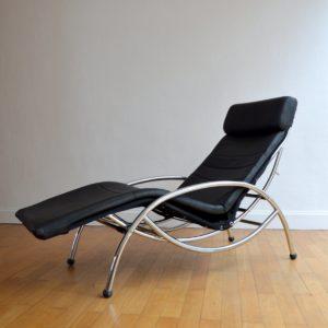 Chaise longue : à bascule 1970 vintage 34