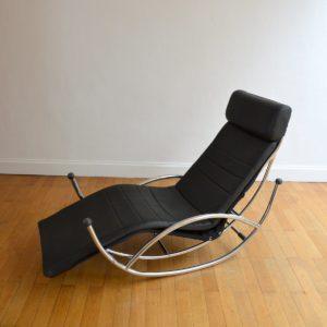 Chaise longue : à bascule 1970 vintage 47