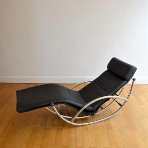 Chaise longue : à bascule 1970 vintage 48