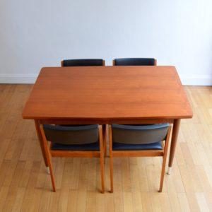 Table à manger et 4 chaises 1960 vintage 3