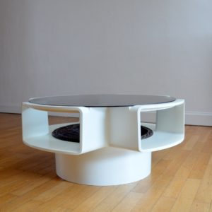 Table basse Jean Maneval space age vintage 7